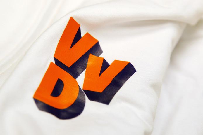 Het logo van de VVD, afbeelding ter illustratie.
