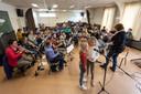 Repetitie van de 130-jarige Koninklijke Amersfoortse Muziekvereniging.