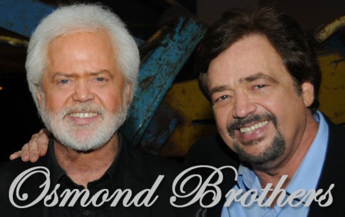 Merrill (l) en Jay Osmond
