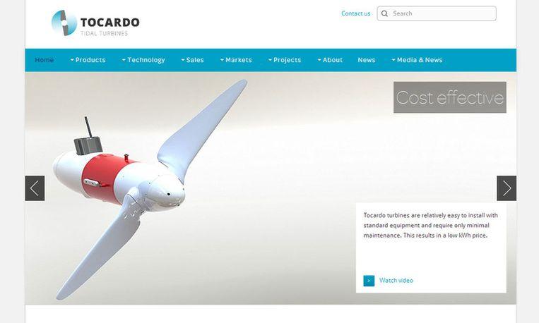 Screenshot website Tocardo Beeld Tocardo