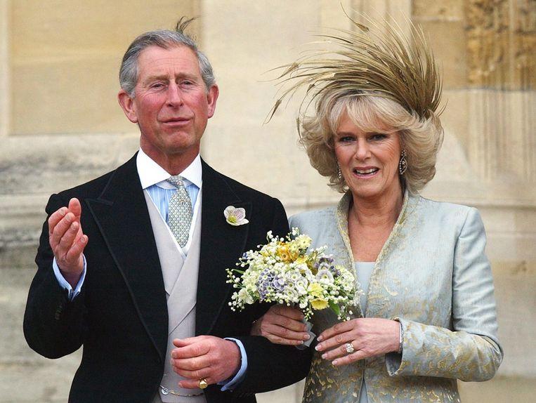 Prins Charles en Camilla Parker Bowles trouwden in 2005.
