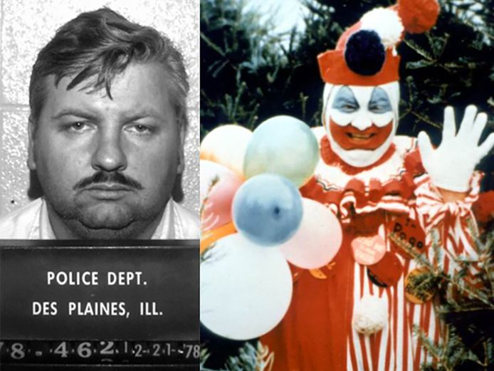 Gacy en zijn personage Pogo.
