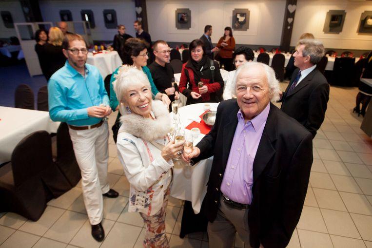 Elisabeth Mostenne en Alex Grandjean op de valentijnsreceptie.