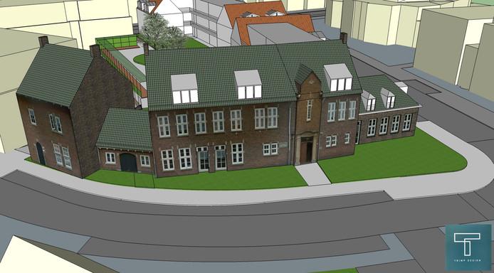 Een impressie van de vernieuwbouw van de locatie Rozenoord in Vught.