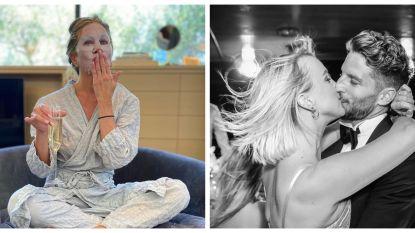 SHOWBITS. Voorbereidingen met Jennifer Aniston en zoenen met Kat & Dries