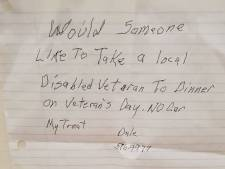 L'invitation touchante d'un vétéran américain solitaire