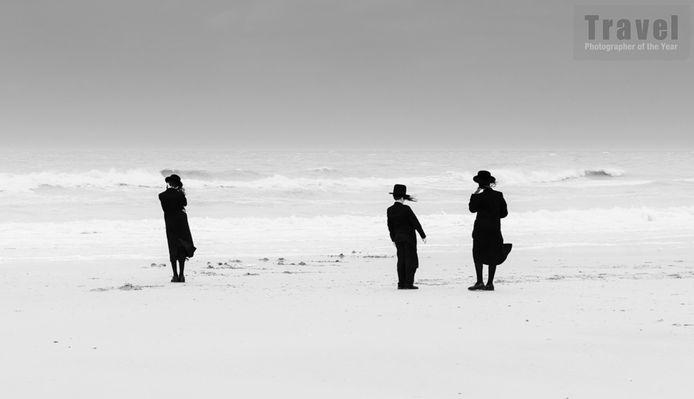 De foto  'Zen at sea' uit de reeks 'Losing our minds' waarmee Eddy in de finale geraakte van de wedstrijd.