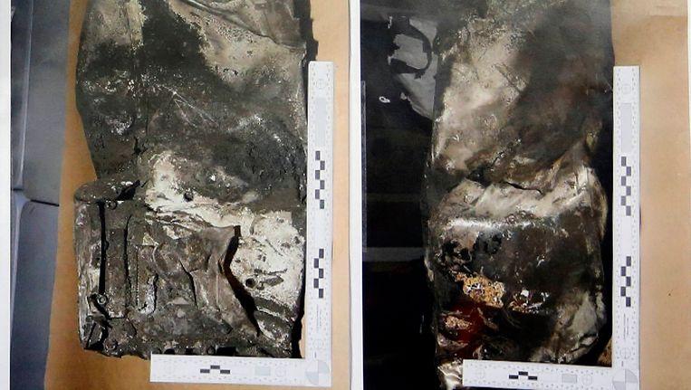 De beschadigde zwarte doos uit het Germanwings-toestel. Beeld null
