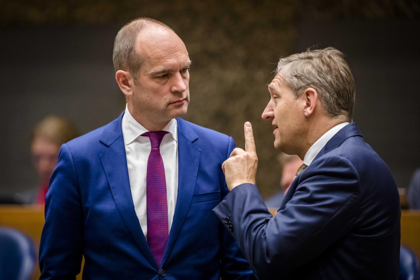 Gert-Jan Segers (ChristenUnie) en Sybrand Buma (CDA).
