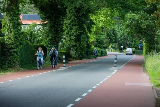 De Grintweg bij Wageningen/Bennekom.