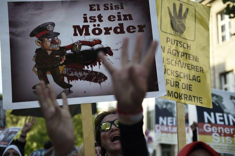 Vandaag was er heel wat protest in Berlijn tegen (het beleid van) al-Sisi.