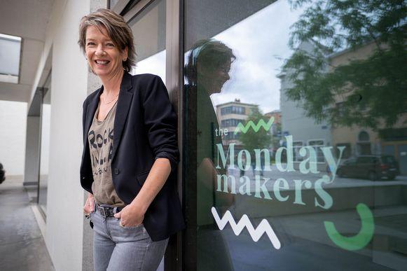 Karen Vandenbossche van Becontent lanceert Monday Makers in Mechelen.