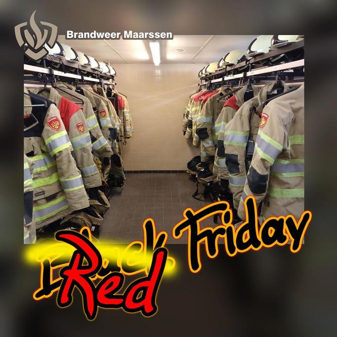 Brandweer Maarssen doopt Black Friday tot Red Friday