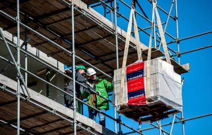 Een bouwplaats in Utrecht.