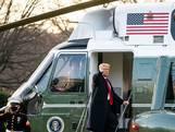 Zo verliet Donald Trump voor de laatste keer het Witte Huis