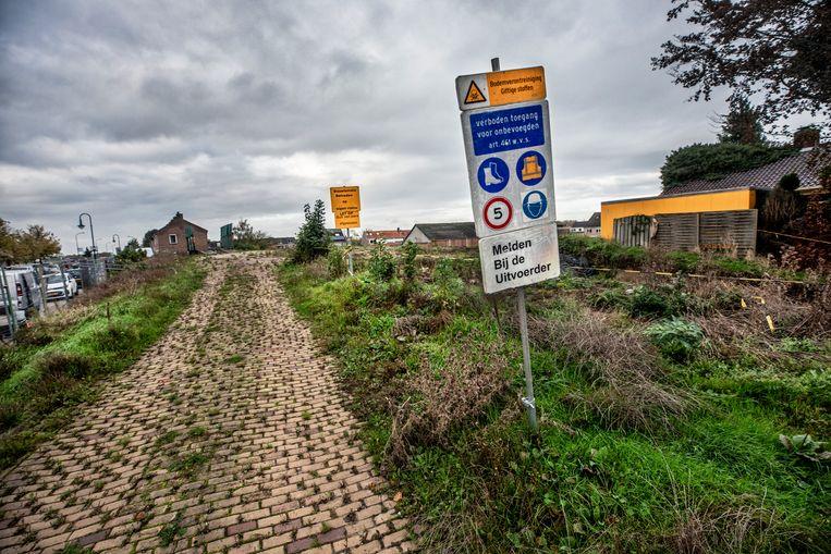 Een bouwterrein in Klundert, Noord-Brabant. Beeld null