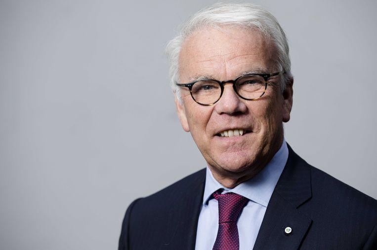 Norbert Klein van de Vrijzinnige Partij maakt zich hard voor de universele grondtoon. Beeld anp
