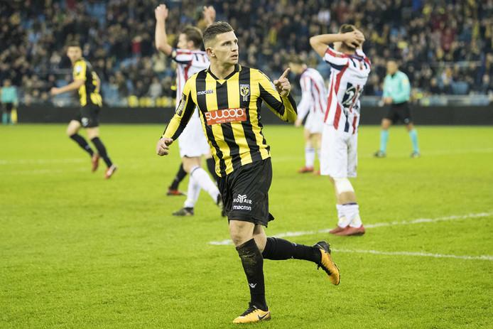 Bryan Linssen scoorde namens Vitesse.