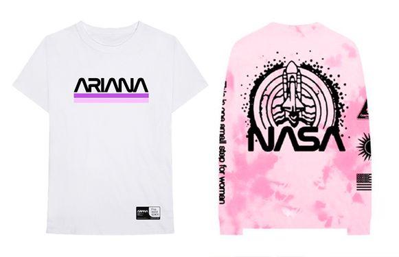 Voor haar concerten tijdens het Coachella-festival in april, bracht popster Ariana Grande een kledinglijn uit met haar naam in de NASA-wormletters. Mét toestemming van NASA.