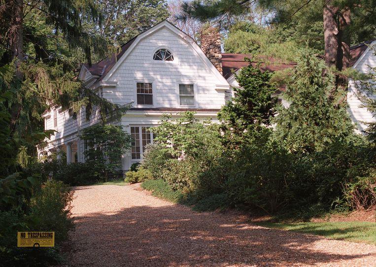 Het huis van Bill en Hillary Clinton in Chappaqua, op 64 kilometer ten noorden van New York City.