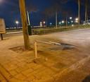 Een van de gesloopte borden aan de Boulevard in Bergen op Zoom.