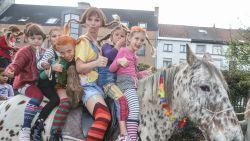 Pippi Langkous (Free Souffriau) bezoekt Gentse school