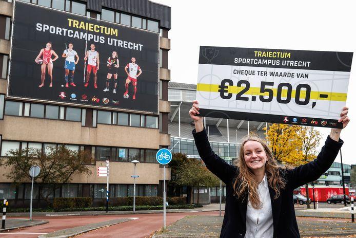 Sara van Mourik bedacht Traiectum, de naam van de Utrechtse sportcampus rond de Laan van Maarschalkerweerd.