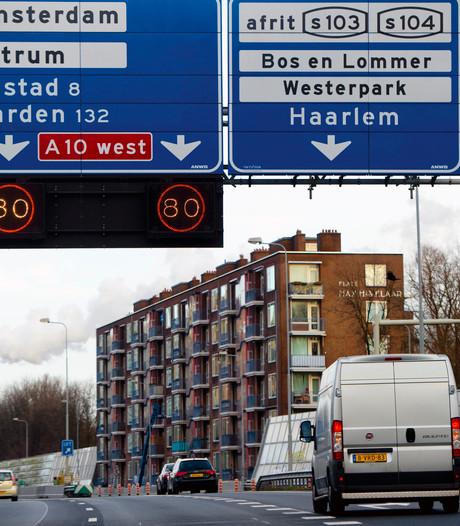 A10-West in Amsterdam zes weken lang op de schop
