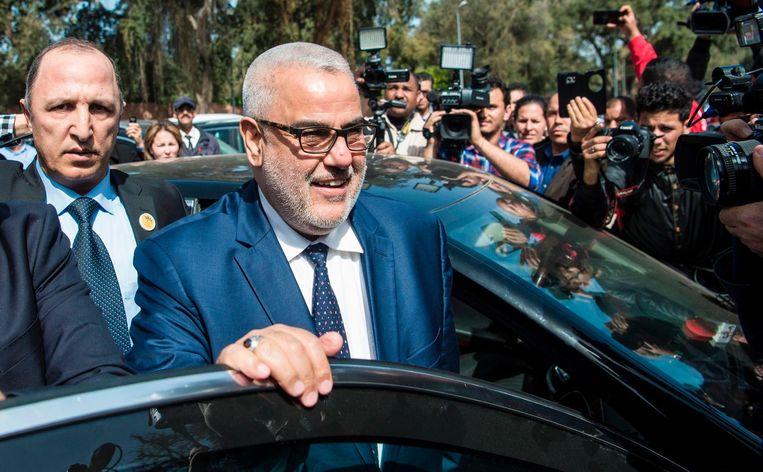 De populaire leider van de islamisten, Abdelilah Benkirane, is vervangen door de nummer twee nadat het niet gelukt was een coalitie te vormen. Beeld afp