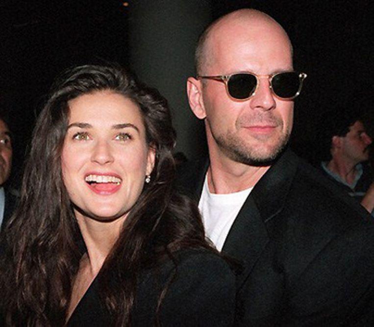 Demi Moore en Bruce Willis