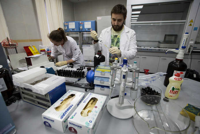 Het lab in Moskou.