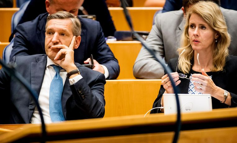 Sybrand van Haersma Buma en Mona Keijzer van het CDA Beeld anp