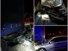 Joyrider (15) knalt auto onder vrachtwagentrailer