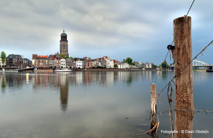 Daan Obdeijn maakt vele foto's rond de stad, maar de skyline van deventer is toch wel een van zijn favorieten.