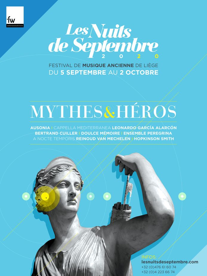 Les Nuits de Septembre auront lieu du 5 septembre au 2 octobre 2020.