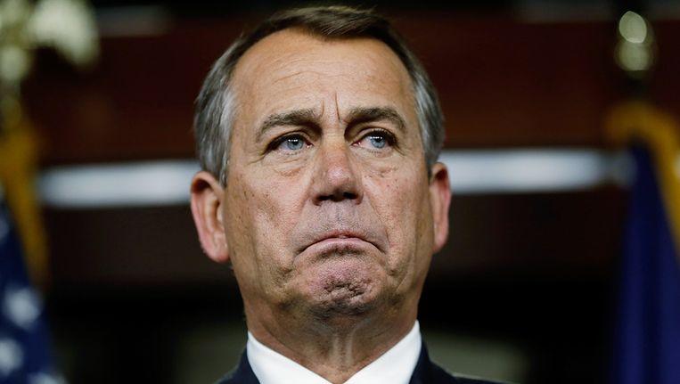 De Republikein John Boehner. Beeld afp