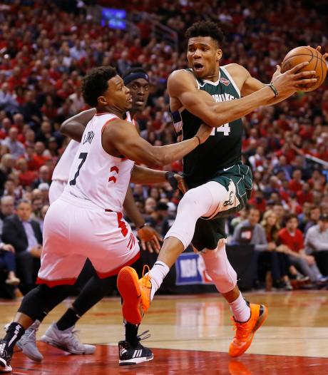 Raptors en Bucks gaan gelijk op bij jacht op NBA-finals
