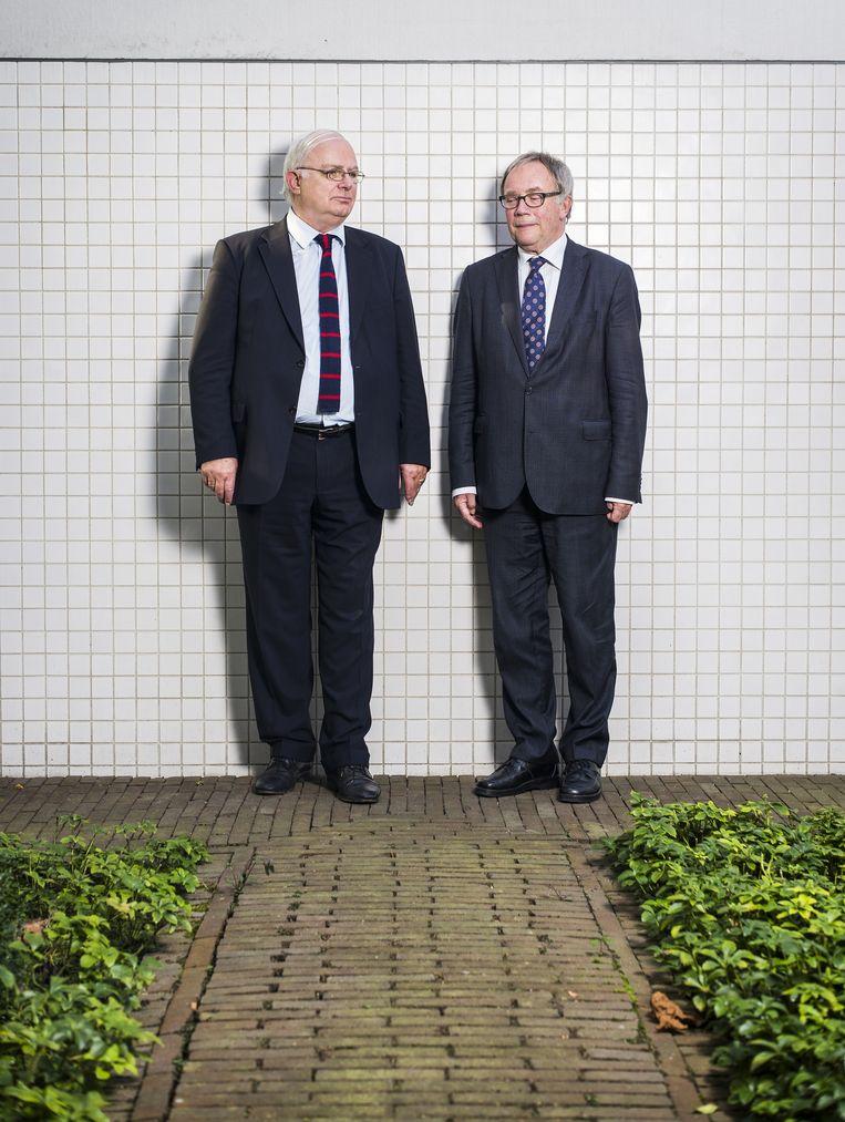 Cyrille Fijnaut, voorzitter van de ACAS (links) en Jan Watse Fokkens, procureur-generaal bij de Hoge Raad. Beeld Jiri Buller