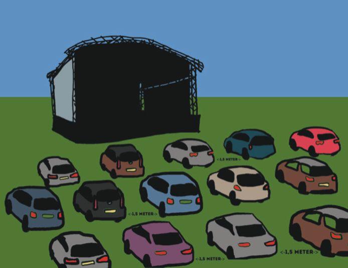 Drive in theater, een idee van Piepschuim.