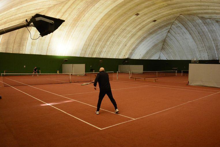 De luchtdraaghal werd vooral gebruikt door tennisclub Soks.