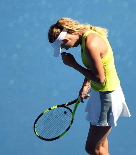 Wozniacki met pijn en moeite langs 21-jarige Fett