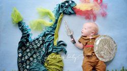 Fotografe maakt spectaculaire foto's van pasgeboren baby's