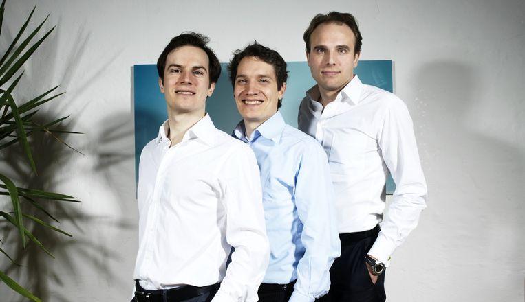 Oliver Samwer met zijn broers Marc en Alexander. Beeld Agentur Focus