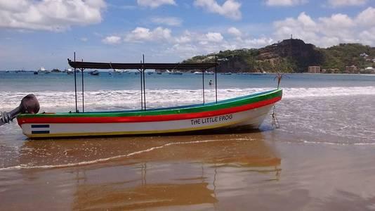 Een boot in San Juan del Sur, Nicaragua
