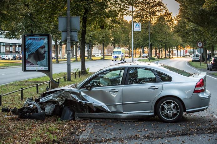 Ongeluk op de Ringbaan-Zuid in Tilburg.