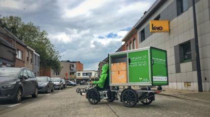 Elektrische fiets met 'citycontainer' van Snel & Wel bezorgt pakketten tot 150 kilogram zwaar