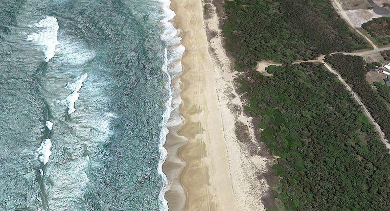 Het incident gebeurde voor de kust van Wooli Beach (New South Wales).