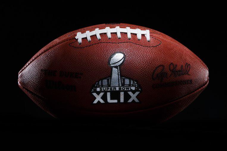 Een Super Bowl XLIX-wedstrijdbal. Beeld ap