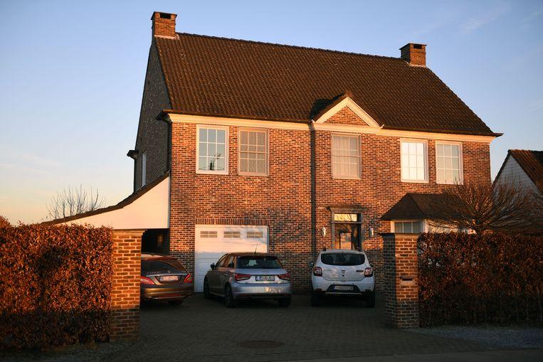 De woning van de kredietmakelaar in Rotselaar.