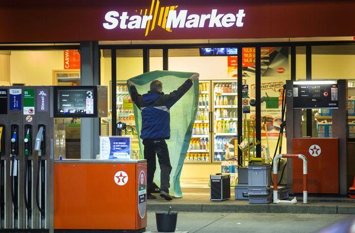 Overval op tankstation in Ede.